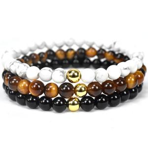 Tiger Eye Stone Black Onyx Stone, Braccialetti in pietra naturale Braccialetti Braccialetti Braccialetti 109 R2