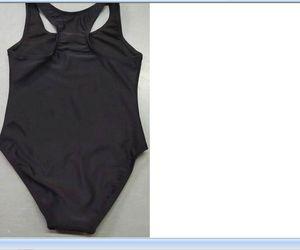 2021 جديد وصول عالية الجودة أزياء الأطفال حبال الصيف الأسود قطعة واحدة بدلة السباحة ملابس السباحة حجم S-XL