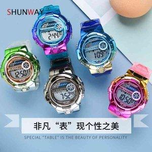 New colorful electronic children's chameleon sports watch waterproof luminous multifunctional Watch Jewelry Gift