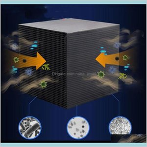 Activated Carbon Water Filter Eco-Aquarium Water Purifier Cube 10X10Cm Honeycomb Ultra Strong Filtration Absorption Filter #913 Jyhp8 Hzu4G
