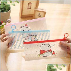 Wholesale- Cute Cartoon Pencil Case Sealing Ring Simple Crea jllksi yy_dhhome
