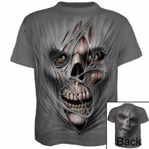 Men Summer Gym Outdoor T-Shirt Quick Dry Running Fitness Tops Fashion 3D Printed T-shirt Casual Short sleeve Tshirt Skull