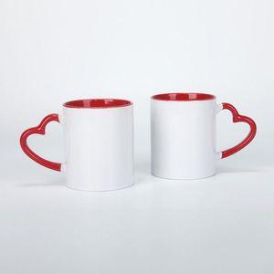 DIY Heat sublimation mug outside White inside colours mug handgrip coffee cup Fashion portable decorative cup YHM826