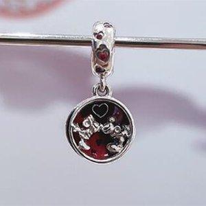 Authentique S925 Sterling Silver 2021 Nouvelle souris Love et bisous Dangle Charm Perle Convient aux bracelets / colliers / Pendentifs de Pandora