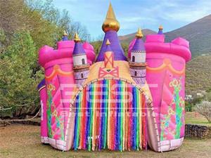 8 متر واسعة نفخ القلعة قوس النفق للأطفال الأحداث عيد ميلاد حزب الديكور الإعلان