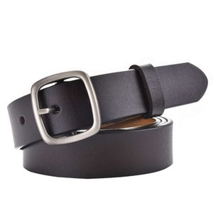 cake hot F&u Second Layer Cow Genuine Leather Belt Luxury Strap and Jeans Belts for Women Fashion Classic Vintage Buckle 3 Colors