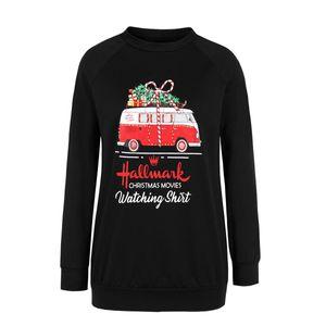 Robe de Noël Automne / hiver 2021 Nouveau manches longues Pull d'impression personnalisée Pull lâche 318 s