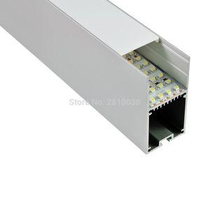 10 X 1 M Sets Lot Large size aluminum led profile housing Deep U type led aluminum profile channel for office suspending light