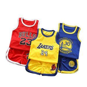 2021 Summer Boys Vest Sports Basketball Uniform clothes set children clothing suit boys sport outfits toddler costume