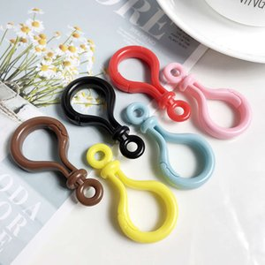 10pcs Thicker Plastic Lobster Clasp Bulb Buckle Keychain Charms Accessories Diy Handmade Jewelry Hooks Keyring Keychains