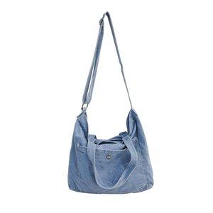 Capacidad grandes bolsas de mensajero de mezclilla Venta de mujeres Jeans de lujo Hombro Crossbody Bolsa de niñas Bolso de viaje caliente # 40 WBKHM