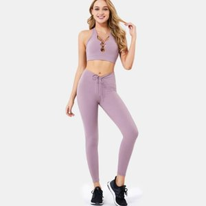 جديد عارية اليوغا البدلة المرأة جيب calisthenics السراويل للسقوط / الشتاء 2021
