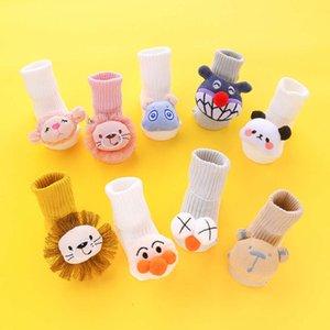 Socks Newborn baby socks spring and summer cartoon doll middle tube children's dispensing floor anti slip lovely winter