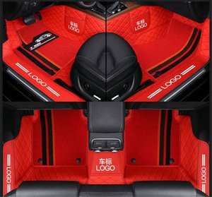 Özel Fit Araba Paspas Halı Spesifik Su Geçirmez Deri Eko Dostu Malzeme Araba Modeli VAST için ve Çift Katmanlar Tam Kırmızı 001