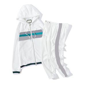 Neue Designer-Trainingsanzüge für Mens Frauen Sportswear mit Buchstaben Mode Trainingsanzug Langarm Casual Jogger Hosen Anzug Kleidung 2 Farben