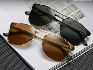 Fashion Retro Polarized Luxury Mens Designer Sunglasses Rimless Gold Plated Square Frame Brand Sun Glasses Eyewear