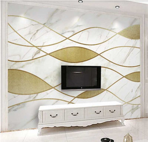 Custom wallpaper 3d photo wall Nordic minimalist marble pattern personality abstract geometric TV background wall covering