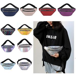 New Ladies Waist Bag Pu Fashion Laser Diagonal Chest Bag Sports Running Waist Bag Waterproof Mobile Phone Bags AHD5019