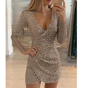 Casual Dresses Fashion Sexy Dress Sequin Women Plus Size Bodycon Short Party Elegant