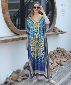 New positioning printing loose large robe style beach skirt bikini blouse holiday sunscreen shirt
