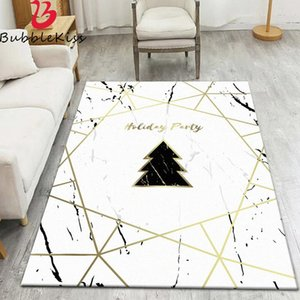 Carpets Bubble Kiss Polyester Material Modern Home Decoration Carpet Simple Golden Geometric Lines Marble Pattern Rug Coffee Table