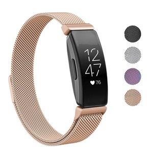Evrensel Milanese Kordonlu Saat Paslanmaz Çelik İzle Kayışı Yedek Bilezik Watch Band Fitbit Inspire HR Heart Smartwatch