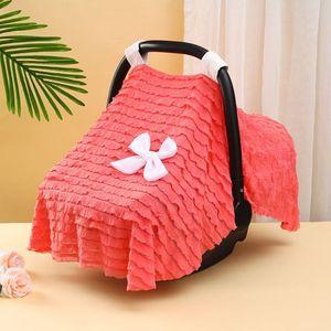 Stroller Parts & Accessories L5YF Baby Basket Cover Multi Use Maternity Breastfeeding Nursing Blanket Windproof Sunshade