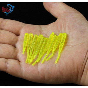 200pcs 4cm 0.3g Bass Fishing Worms 10 Colors Sile Soft Plastic Fishing Lures Artificial Bait Rubber In Jig jllbbD soif