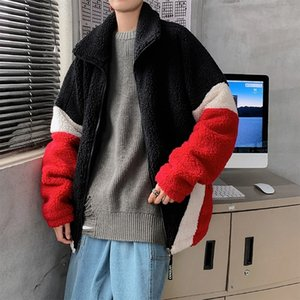 2021 Top quality Winter Thick Lamb Fur Jacket Men's Warmth Fashion Retro Hit Color Casual Men Short Coat Mens Clothes M-2xl KD4R