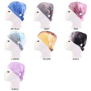 2021 Fashion Women Print Soft Headband Button Sports Yoga Elastic Headband for Ear Protective Headwear Accessories