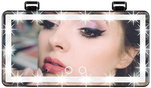 Car Visor Vanity Mirror, Car Makeup Mirror with Lights,Car Vanity Mirror Dimmable Sun Visor Mirror, Clip-on Vanity Mirror for Women