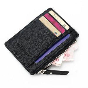 Zipper Women Leather PU Card Holders Slots S Purse Mini Men Carteira Wallet Coin Pocket Short Sxllu