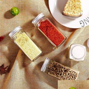 Spice Jars Kitchen Органайзер для хранения держатель контейнерных стекловой приправы бутылки с крышками крышки # 202161