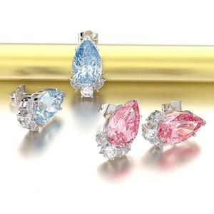 HBP Fashion Shipai Jewelry Verano Nuevo temperamento Corea Sencillo y elegante Gota de agua 8 * 13 Neto Red Pendientes Regalo