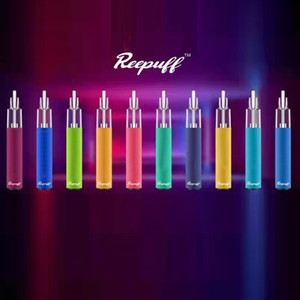 Authentic Reewape Reepuff Glow Disposable Pod Device Rechargeable 650mAh 7 Colors LED Featured 1500 Puffs 650mAh Vapor Bar Stick Pen Kit