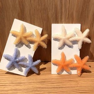 S1492 Candy Color Starfish Barrette Hairpin Hair Clip Dukbill Toothed Hair Clip Bobby Pin Lady Barrette Hair Accessories 525252