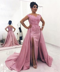 Fuchsia Lace Satin Mermaid Mother of the Bride Dresses with Overskirt Appliques Off Shoulder Corset Back Wedding Party Formal Evening Gowns Plus Size