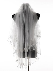 Bridal Veils Charming Bead Edge Wedding Accessories Tulle Veil With Comb