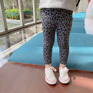 Leopard Girls Leggings Kids Tights Cotton Trousers Spring Autumn Fashion Girls Skinny Pants Children Clothes 2-7Y B3959