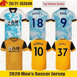 20 21 21 Raul Wolves Soccer Tehersys Neto 2020 2021 Wolverhampton Wanderers Podence Diogo Neves Футбольная рубашка Adama Mens Jersey Kity Kit