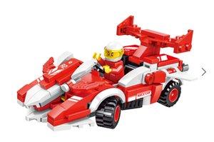 2021 Education Toys Micro Assembled racing car Lego blocks toy puzzle Intelligence toys assembled bricks children assembling DIY gift