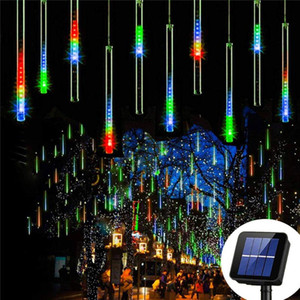 Solar Powered Led outdoor string lights Christmas Falling Rain Icicle Fairy String Lamp Meteor Shower Rain Holiday Party Lights