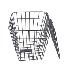 Special grade spring square cover plus coarse basket electric bicycle basket student bicycle back basket