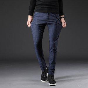 2021 новый бренд мужчины карандаш случайные мужские бизнес брюки классики середины веса прямой полная длина дыхание брюки белье хлопок gh7t