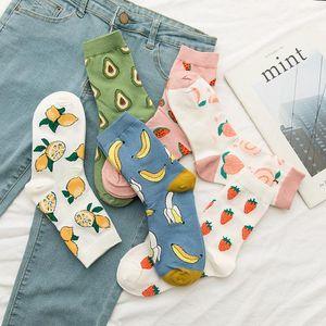 Socks & Hosiery RZHBRO 1 Pair Woman Kawaii Funny Fruit Women's Cute Casual Sock Cotton With Print Soft