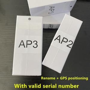 유효한 일련 번호 공기 Gen 3 AP3 H1 칩 금속 힌지 무선 충전 블루투스 헤드폰 PK POD 2 PRO AP2 이어 버드 2 세대