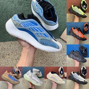 700 V3 كاني ويست أحذية عاكسة البرتقال العظام موجة عداء الرجال النساء الاحذية أحذية رياضية الصلبة رمادي التناظرية تيل الكربون الأزرق مصمم الأحذية