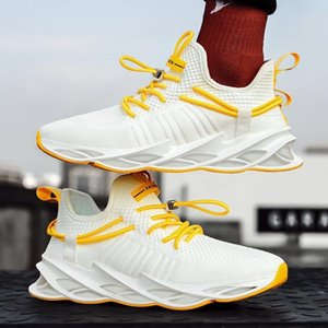 Nanjiren Mens Shoes Autumn Breathable Red Trendy All-Match Mesh Blade Flying Woven Fishing Line Sneakers