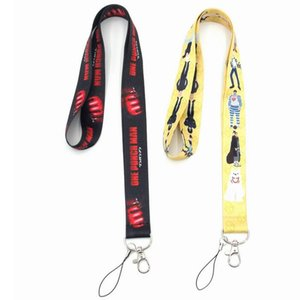 Anime One-Punch Man phone lanyard straps SAITAMA keychain key chain rope keyring key ring strap