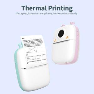 Printers Portable Mini Pocket Printer BT Wireless Thermal Po Notes Errors Memo With 1 Roll Of Paper Pink